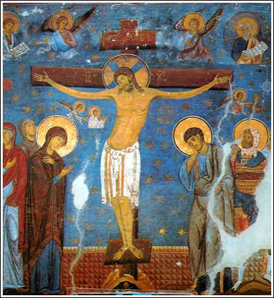 Τοιχογραφία της Σταύρωσης από το Μοναστήρι της Studenica στη Σερβία